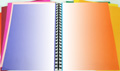 colored notebook