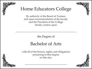 Home Educators degree