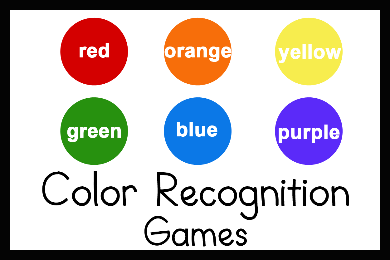 3 Games For Teaching Color Recognition Colors For Toddlers