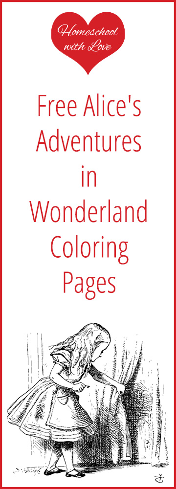 Free Alices Adventures in Wonderland Coloring Pages