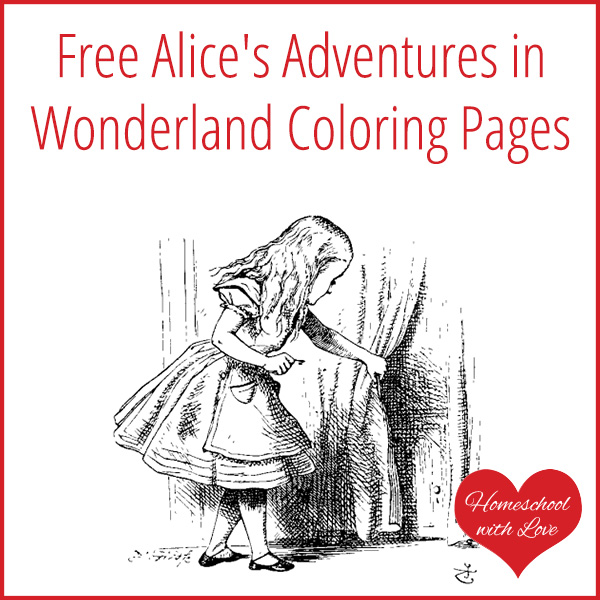 Free Alice\'s Adventures in Wonderland Coloring Pages