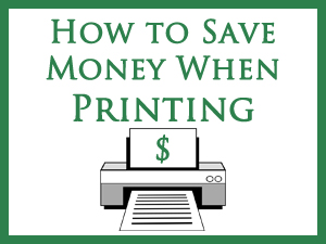 How to Save Money When Printing