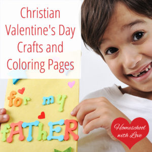 christian valentines day crafts and coloring pages