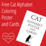 Free Cat Alphabet Coloring Poster and Cards