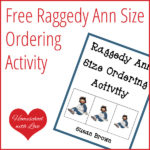 Free Raggedy Ann Size Ordering Activity