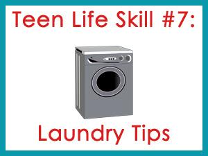 Teen Life Skill #7: Laundry Tips