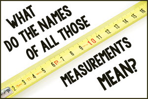What Do the Names of All Those Measurements Mean?