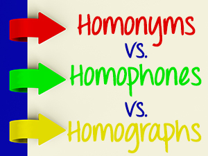 Homonyms vs. Homophones vs. Homographs