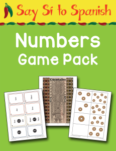 Spanish Numbers Game Pack cover Currclick