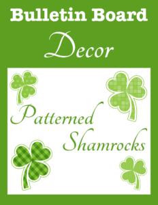 Bulletin Board Decor Patterned Shamrocks cover Currclick