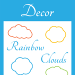 Bulletin Board Decor: Rainbow Clouds