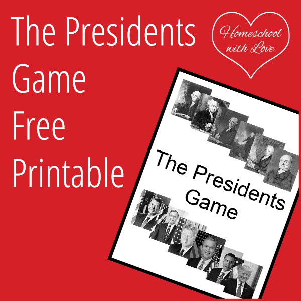The Presidents Game Free Printable