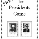 The Presidents Game – FREE Printable