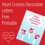 Heart Crosses Decorative Letters FREE Printable