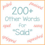 "200+ Other Words for ""Said"""