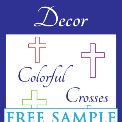 Colorful Crosses Free Sample