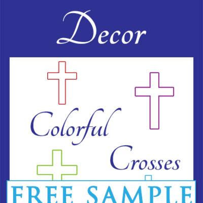 Colorful Crosses Free Sample