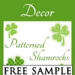 Patterned Shamrocks Free Sample