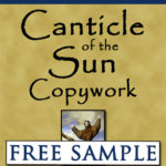 Canticle of the Sun Copywork Free Sample