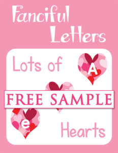 Fanciful Letters Lots of Hearts Free Sample cover 600h