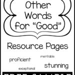 "Other Words for ""Good"" Resource Pages Free Sample"