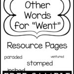 """Other Words for """"Went"""" Resource Pages Free Sample"""