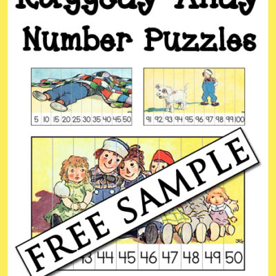 Raggedy Andy Number Puzzles Free Sample
