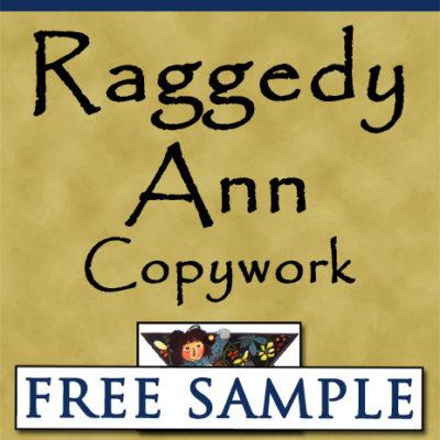 Raggedy Ann Copywork Free Sample