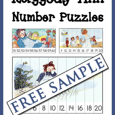 Raggedy Ann Number Puzzles Free Sample