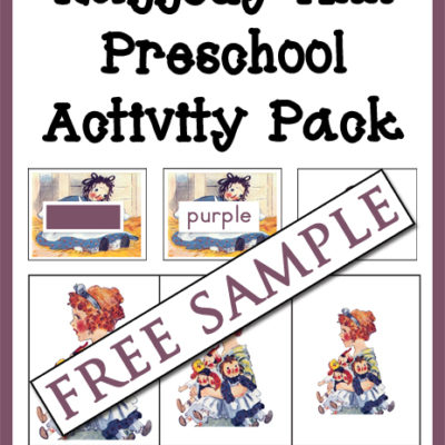 Raggedy Ann Preschool Activity Pack Free Sample