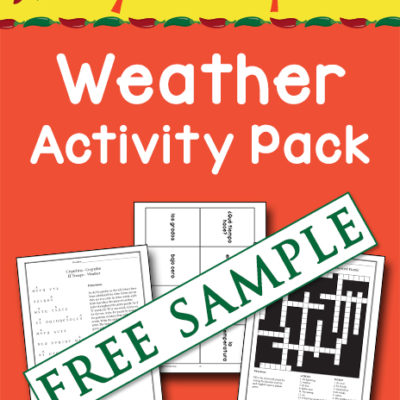 Say Sí to Spanish: Weather Activity Pack Free Sample