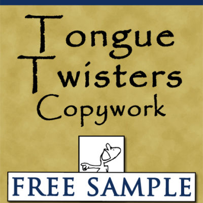 Tongue Twisters Copywork Free Sample