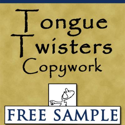 Tongue Twisters Copywork Free Sample