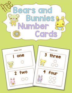 Bears and Bunnies Number Cards Cover 600h