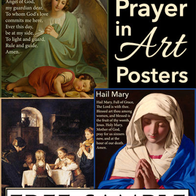 Catholic Prayer in Art Posters Free Sample
