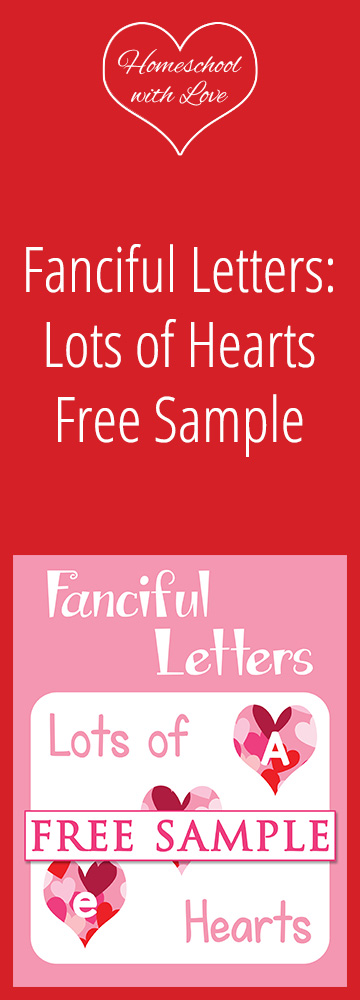 Fanciful Letters Lots of Hearts Free Sample