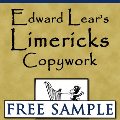 Edward Lear's Limericks Copywork Free Sample