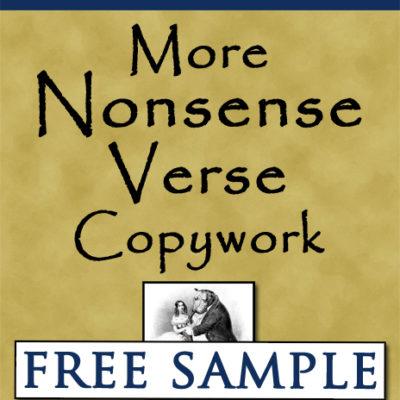 More Nonsense Verse Copywork Free Sample