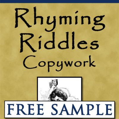 Rhyming Riddles Copywork Free Sample