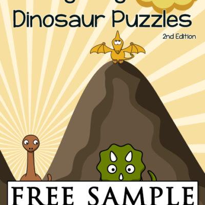 Synonym Dinosaur Puzzles Free Sample