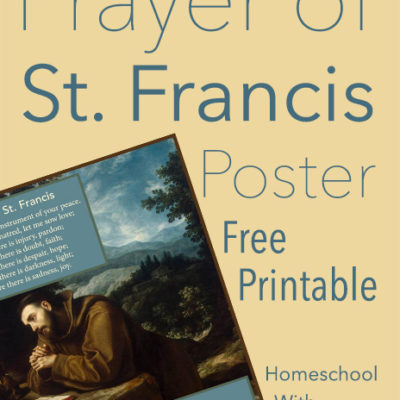Prayer of St. Francis Poster FREE Printable