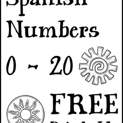 Spanish Numbers 0 – 20 Free Printable