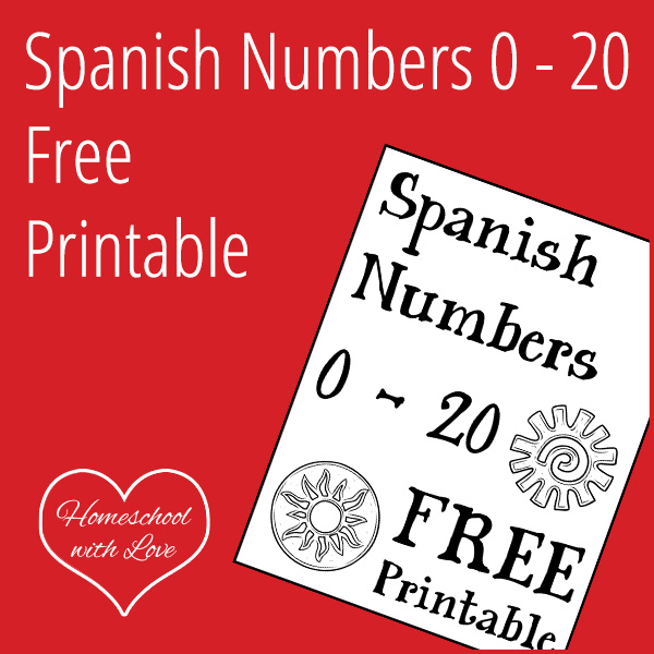 picture about Spanish Printable identified as Spanish Figures 0 - 20 Absolutely free Printable