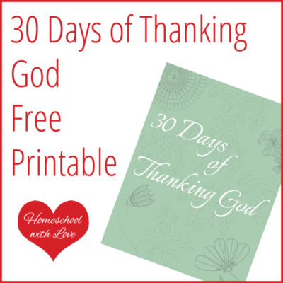 30 Days of Thanking God Free Printable