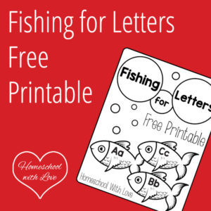 Fishing for Letters Free Printable