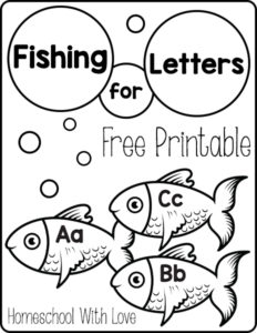 photo relating to Printable Fishing called Fishing for Letters Absolutely free Printable