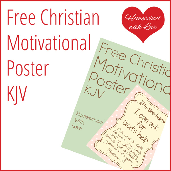 Free Christian Motivational Poster
