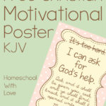 Free Christian Motivational Poster KJV