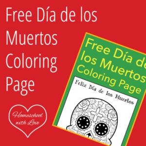 Free Día de los Muertos Coloring Page