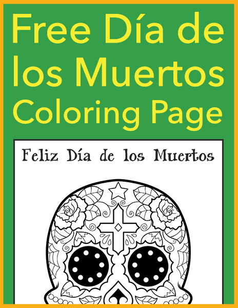 free dia de los muertos coloring page 600h - Dia De Los Muertos Coloring Pages